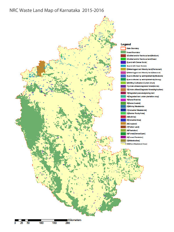 Land waste map